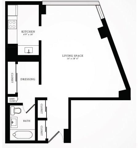 Studio, Gold Coast Rental in Chicago, IL for $1,647 - Photo 2