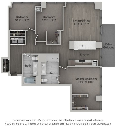 3 Bedrooms, Fulton Market Rental in Chicago, IL for $4,700 - Photo 2