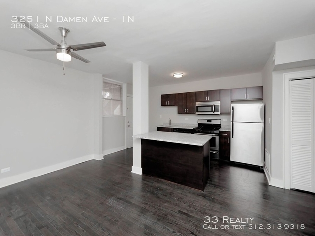 3 Bedrooms, Roscoe Village Rental in Chicago, IL for $2,800 - Photo 1