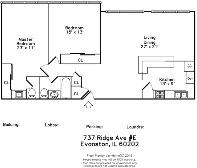 2 Bedrooms, Evanston Rental in Chicago, IL for $1,650 - Photo 2