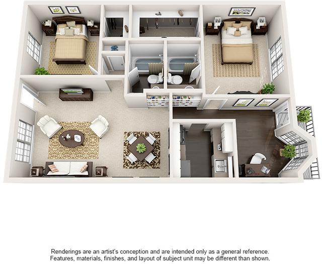 1 Bedroom, Barkley Square South Rental in Houston for $758 - Photo 2