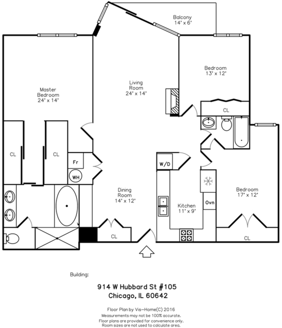 3 Bedrooms, Fulton Market Rental in Chicago, IL for $3,700 - Photo 2