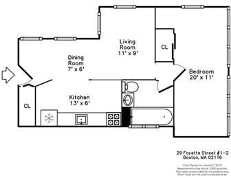 1 Bedroom, Bay Village Rental in Boston, MA for $2,500 - Photo 2