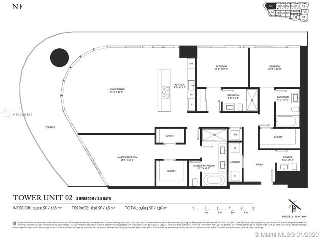 3 Bedrooms, Miami Financial District Rental in Miami, FL for $6,900 - Photo 2