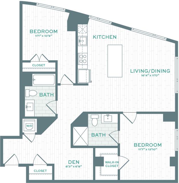 2 Bedrooms, North Allston Rental in Boston, MA for $4,614 - Photo 1