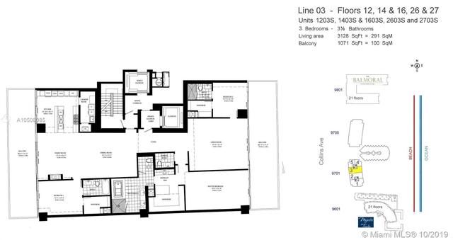 3 Bedrooms, Bal Harbor Ocean Front Rental in Miami, FL for $35,000 - Photo 2
