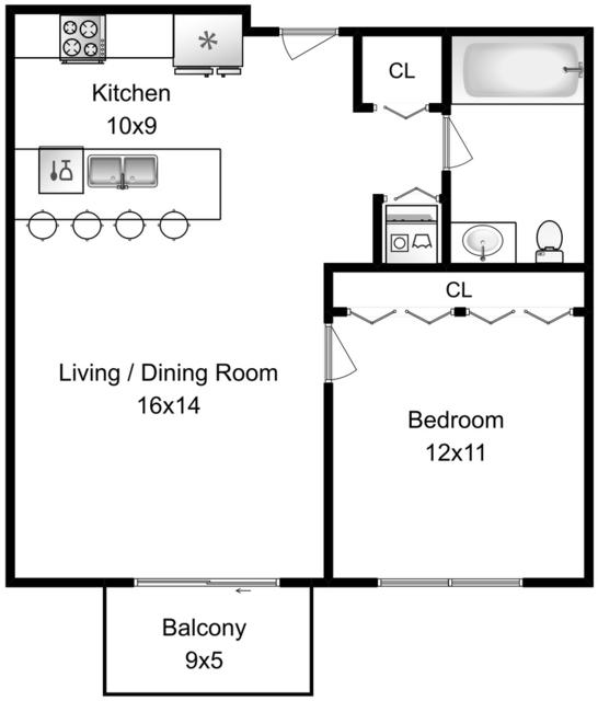 1 Bedroom, Cabrini-Green Rental in Chicago, IL for $1,850 - Photo 2