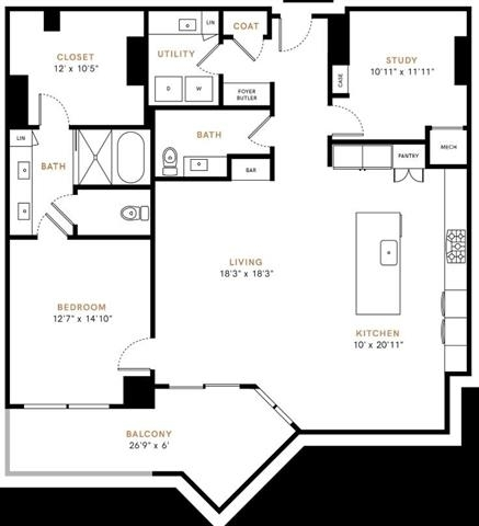 1 Bedroom, Uptown Rental in Dallas for $6,160 - Photo 2
