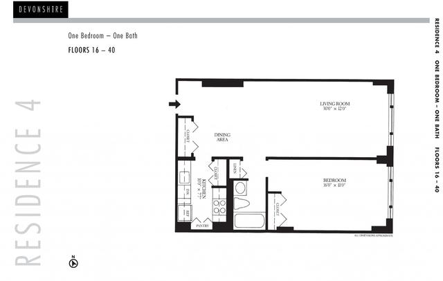 1 Bedroom, Downtown Boston Rental in Boston, MA for $3,725 - Photo 2