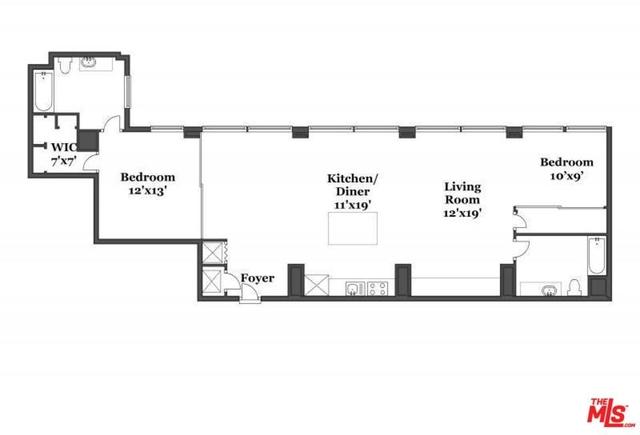 2 Bedrooms, Gallery Row Rental in Los Angeles, CA for $3,800 - Photo 2