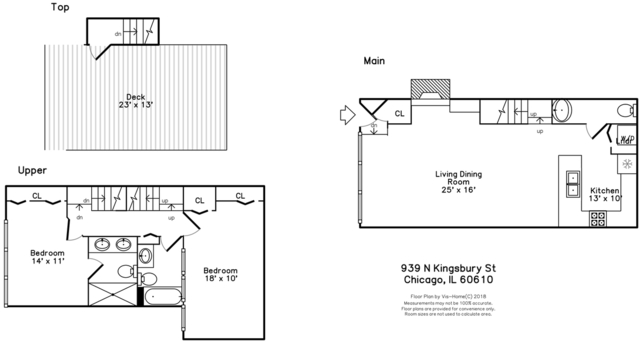 2 Bedrooms, Goose Island Rental in Chicago, IL for $3,000 - Photo 2
