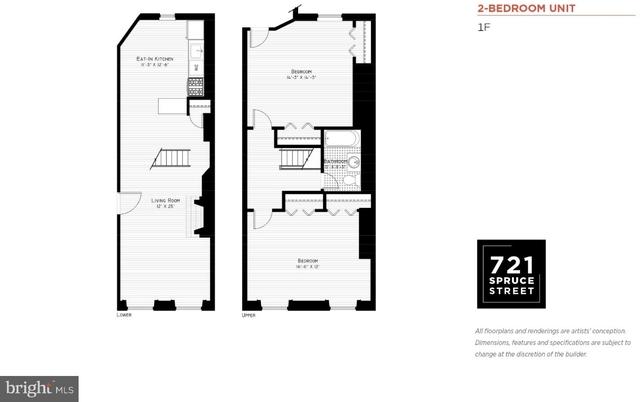 2 Bedrooms, Washington Square West Rental in Philadelphia, PA for $1,775 - Photo 2