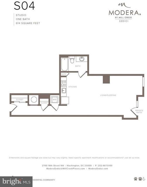 Studio, Adams Morgan Rental in Washington, DC for $2,040 - Photo 2