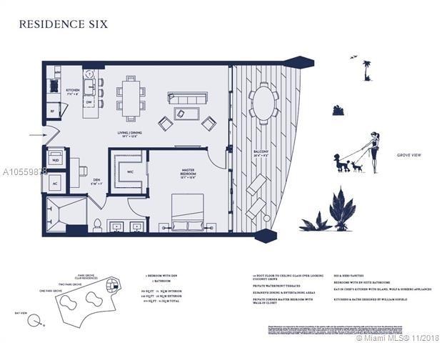 1 Bedroom, Northeast Coconut Grove Rental in Miami, FL for $3,400 - Photo 2