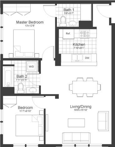 2 Bedrooms, Neighborhood Nine Rental in Boston, MA for $2,775 - Photo 2