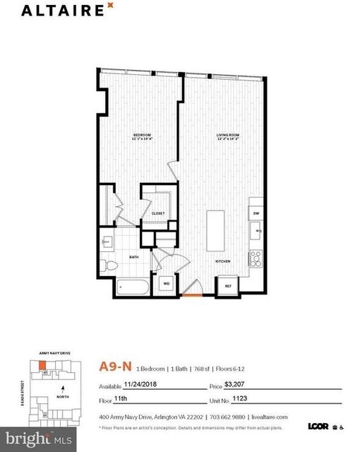 1 Bedroom, Crystal City Shops Rental in Washington, DC for $3,147 - Photo 2