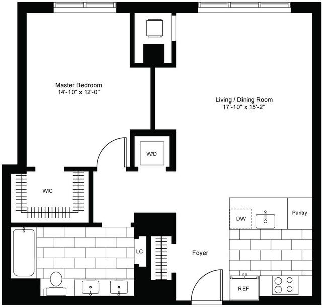 1 Bedroom, Bunker Hill Rental in Los Angeles, CA for $3,560 - Photo 2