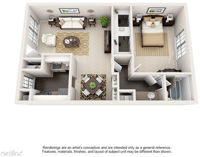 1 Bedroom, Barkley Square South Rental in Houston for $705 - Photo 1