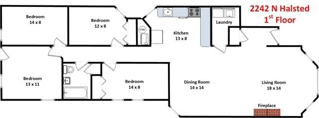 4 Bedrooms, Sheffield Rental in Chicago, IL for $3,900 - Photo 2