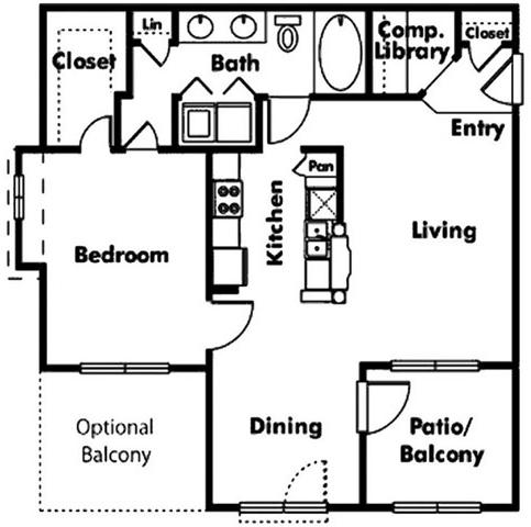 1 Bedroom, Villas at West Oaks Rental in Houston for $795 - Photo 2