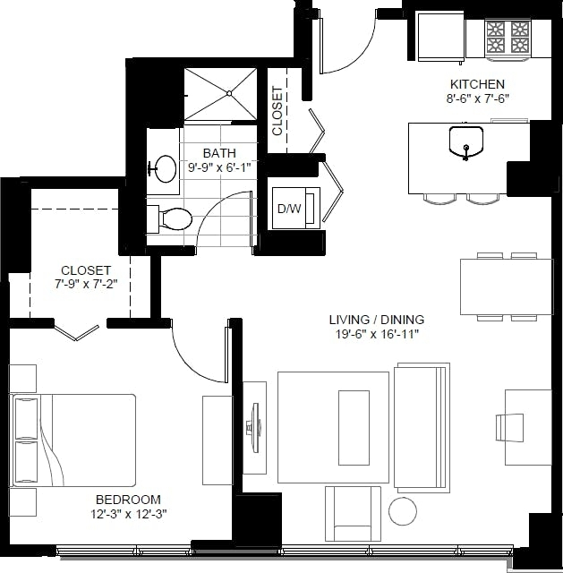 Studio, The Loop Rental in Chicago, IL for $2,343 - Photo 2