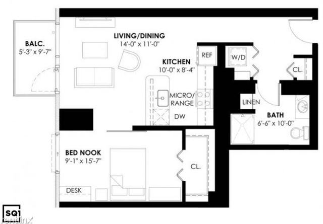 1 Bedroom, Goose Island Rental in Chicago, IL for $2,495 - Photo 2