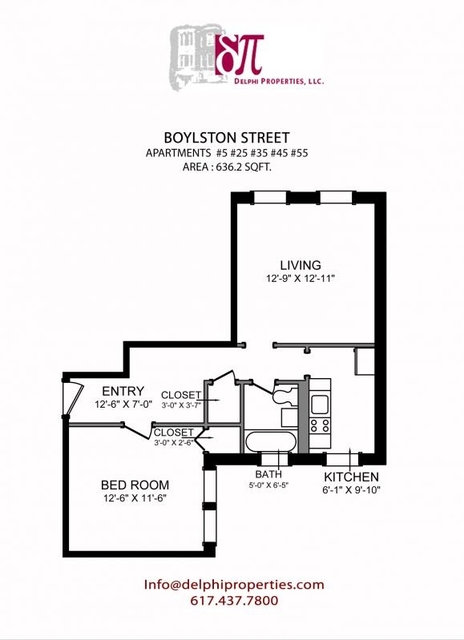 2 Bedrooms, West Fens Rental in Boston, MA for $2,250 - Photo 1
