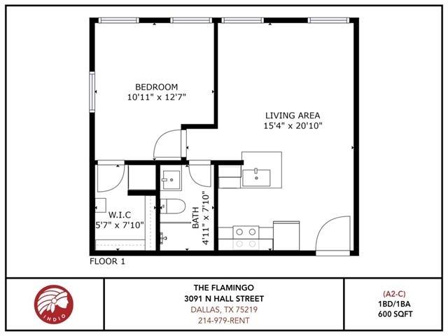 1 Bedroom, Northwest Dallas Rental in Dallas for $1,270 - Photo 2