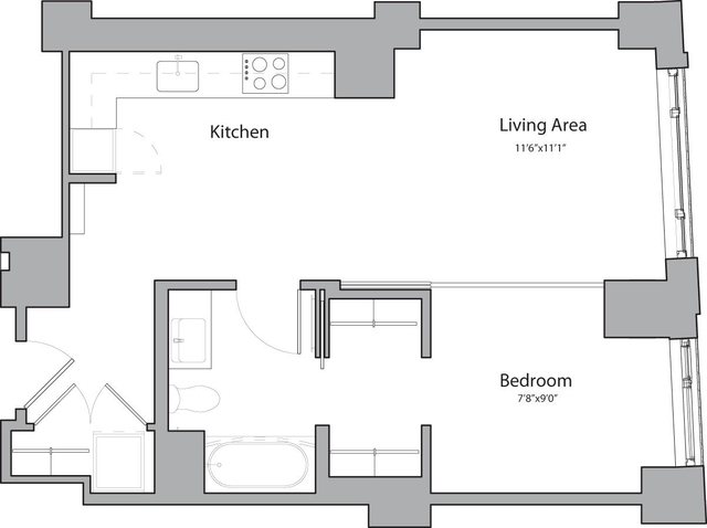 1 Bedroom, Shawmut Rental in Boston, MA for $3,095 - Photo 1