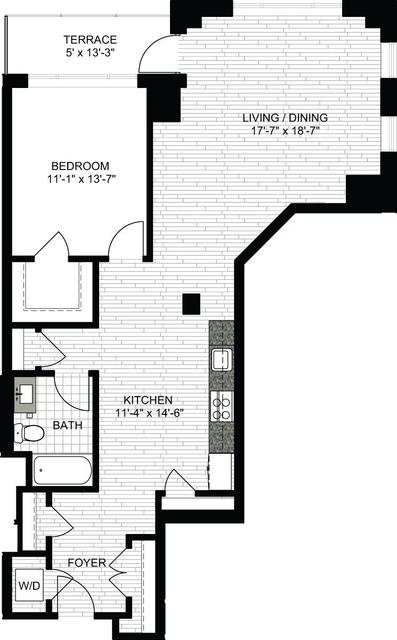 1 Bedroom, Downtown Boston Rental in Boston, MA for $3,440 - Photo 2
