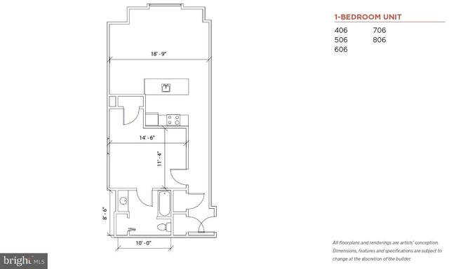 1 Bedroom, Chinatown Rental in Philadelphia, PA for $1,600 - Photo 2