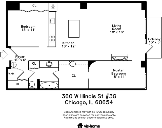 2 Bedrooms, River North Rental in Chicago, IL for $2,850 - Photo 2