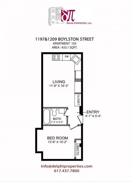 1 Bedroom, West Fens Rental in Boston, MA for $2,025 - Photo 2