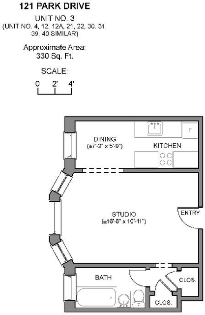 Studio, Medical Center Area Rental in Boston, MA for $1,850 - Photo 2