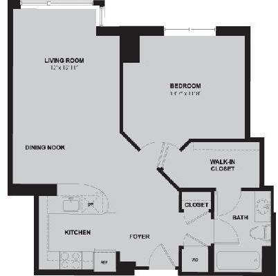 1 Bedroom, Bank Square Rental in Boston, MA for $2,305 - Photo 1