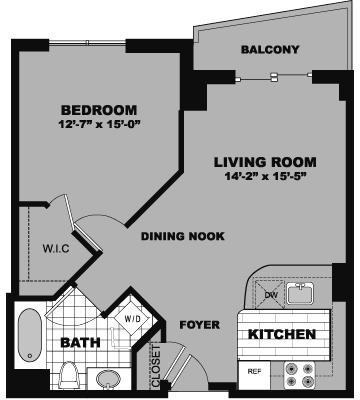 1 Bedroom, Bank Square Rental in Boston, MA for $2,295 - Photo 1