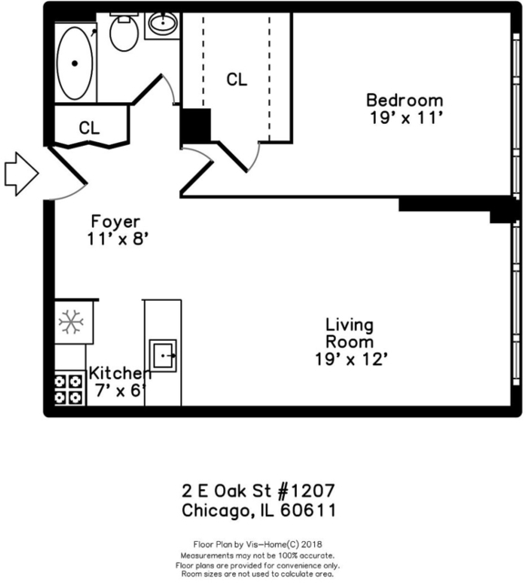 1 Bedroom, Gold Coast Rental in Chicago, IL for $1,730 - Photo 2