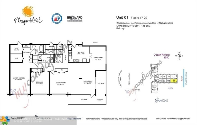 3 Bedrooms, Galt Mile Rental in Miami, FL for $4,200 - Photo 2