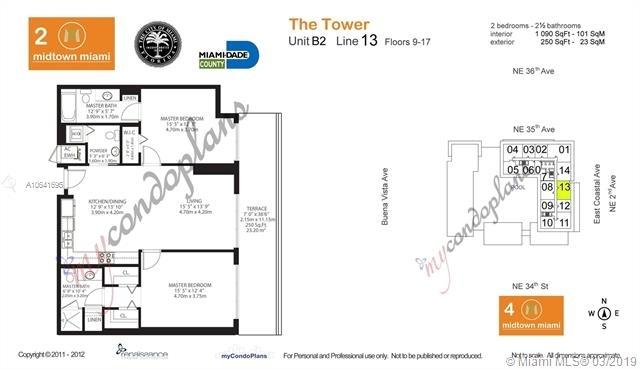 2 Bedrooms, Midtown Miami Rental in Miami, FL for $2,850 - Photo 2