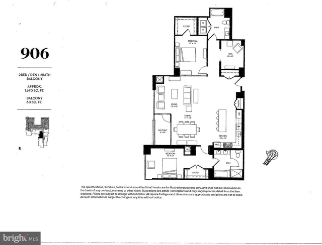 2 Bedrooms, Southwest - Waterfront Rental in Washington, DC for $6,500 - Photo 2