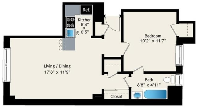 1 Bedroom, Lake View East Rental in Chicago, IL for $1,550 - Photo 2