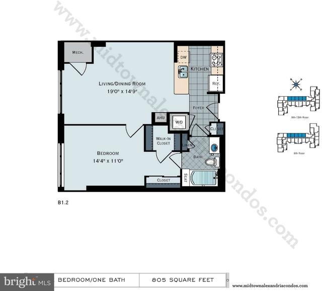 1 Bedroom, Huntington Rental in Washington, DC for $1,665 - Photo 2
