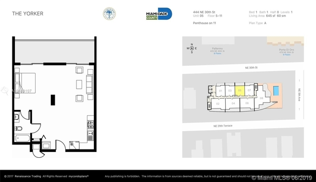 1 Bedroom, Broadmoor Rental in Miami, FL for $1,700 - Photo 2