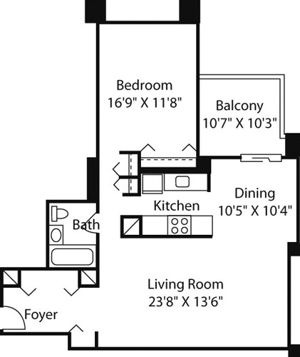 1 Bedroom, Downtown Boston Rental in Boston, MA for $3,140 - Photo 1