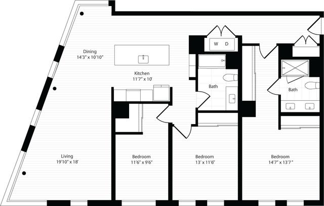 3 Bedrooms, Harrison Lenox Rental in Boston, MA for $6,935 - Photo 1