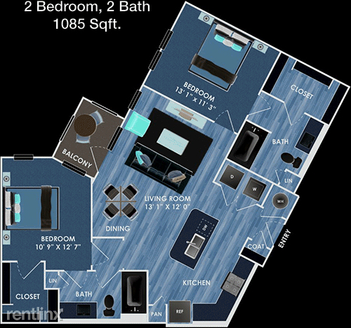 1 Bedroom, Rock Island-Samuels Avenue Rental in Dallas for $1,223 - Photo 1
