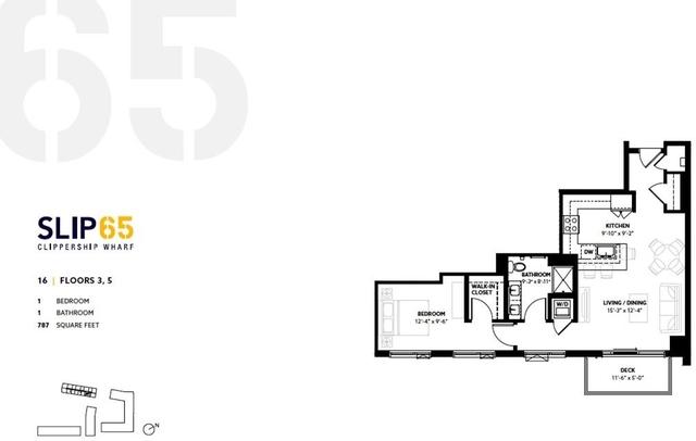 1 Bedroom, Central Maverick Square - Paris Street Rental in Boston, MA for $2,550 - Photo 2