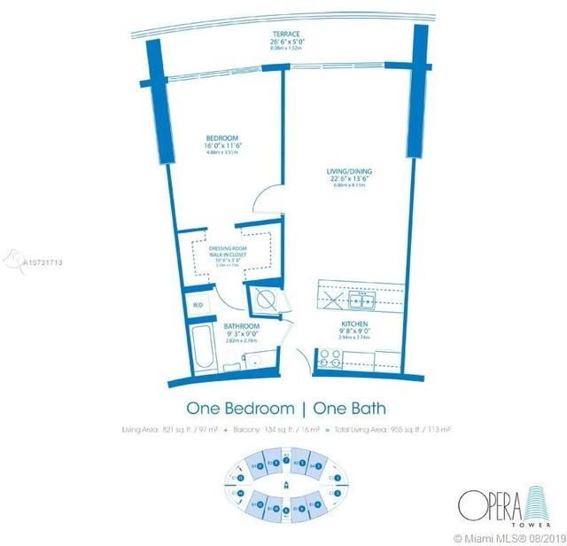 1 Bedroom, Seaport Rental in Miami, FL for $2,100 - Photo 2