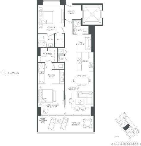 2 Bedrooms, Broadmoor Rental in Miami, FL for $3,500 - Photo 2