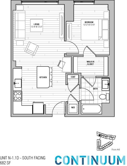 1 Bedroom, North Allston Rental in Boston, MA for $3,755 - Photo 1